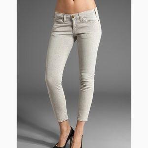 Natural Python Print Crop Skinny Snakeskin Jeans